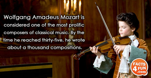 Wolfgang Amadeus Mozart is considered one of the most prolific composers of classical music. By the