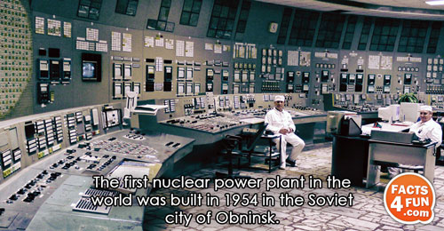 The first nuclear power plant in the world was built in 1954 in the Soviet city