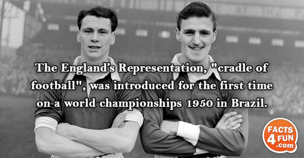 The England's Representation, the cradle of football, was introduced for the first time on a world