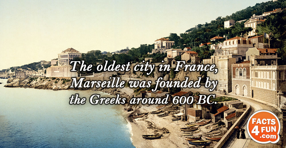 The oldest city in France, Marseille was founded by the Greeks around 600 BC.